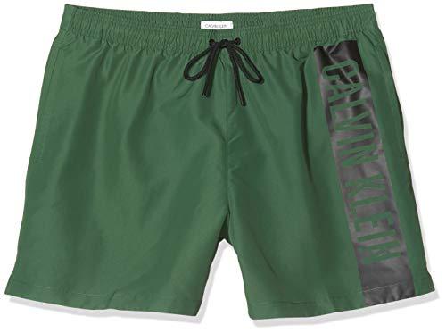 Calvin Klein Herren Medium Drawstring Badehose, Grün (Dark Green LC0), X-Large
