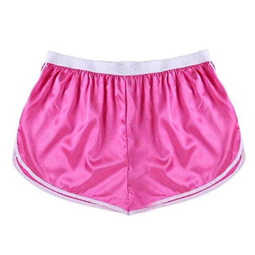 TiaoBug Herren modische Shorts Badeshorts Badehose Kurze Hose Sport Hose Pants Schwimmshorts Beachwear Strand Shorts Boxer Brief M-XL Rose XL