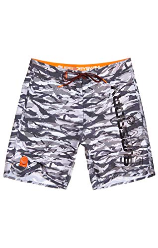Superdry Herren Deep Water Boardshort Shorts, Mehrfarbig (Ice Grey Camo Q2M), Gr. 38 (Herstellergröße:XXL)