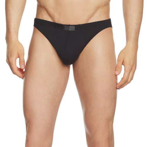 HOM Herren Slip 10094572 Pure Cotton Micro, Gr. 4 (S), Schwarz (BLACK COMBINATION M014)