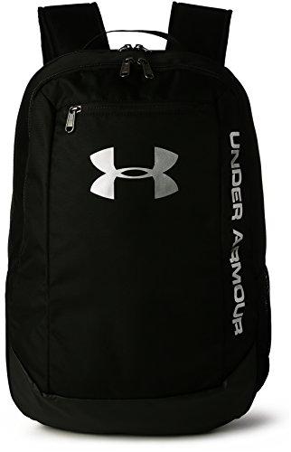 Under Armour Herren UA Hustle Backpack LDWR strapazierfähiger Reiserucksack mit Laptopfach, wasserabweisender Laptop Rucksack für jedes Wetter, Schwarz (Black (001), Einheitsgröße