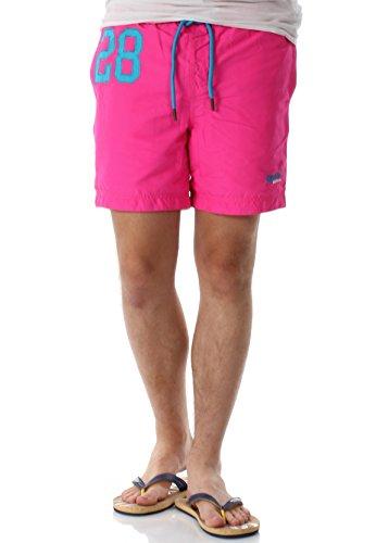 Superdry Badeshorts Herren Waterpolo Swim Shorts Cantina Pink, Größe:M