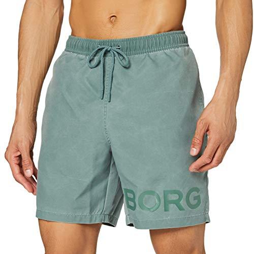 Björn Borg Herren Sheldon Shorts Badehose, Entengrün, XL