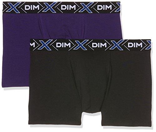 Dim Herren X-Temp Boxer X2 Badehose, Mehrfarbig (violett Auburn/Schwarz), L (2er Pack)