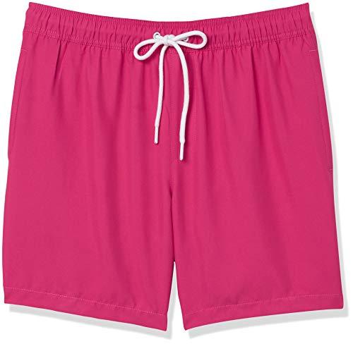 Amazon Essentials Herren Badehose, Pink(hot pink), US XXL (EU XXXL - 4XL)