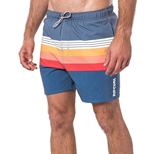 Rip Curl Layered 16 Volley,Herren,Volleyshort,Bade-Short,Bade-Hose,Gummizug,Stretch,Navy,S