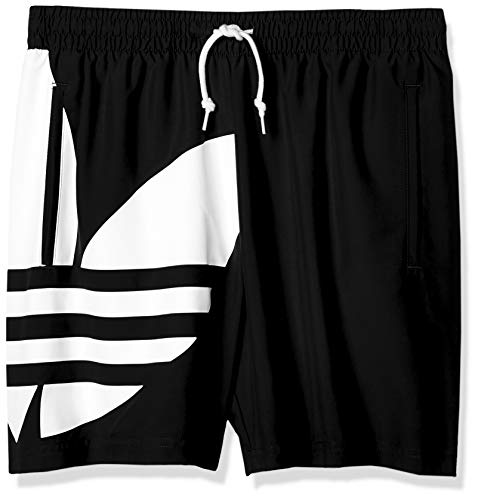 adidas Herren Big Trefoil SWM Swimsuit, Black, M