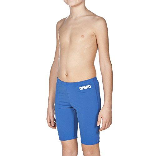 arena Jungen Trainings Badehose Solid Jammer (Schnelltrocknend, UV-Schutz UPF 50+, Chlorresistent, Kordelzug), Blau (Royal-White), 164