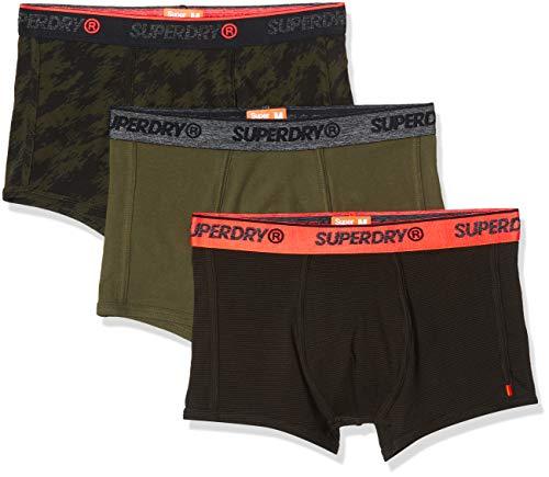Superdry Herren OL Sport Trunk Triple Pack Badehose, Grün (Khaki Multipack 1SD), Medium