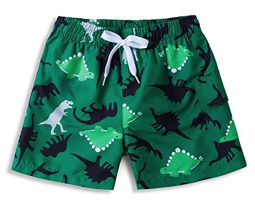 ALISISTER Badehose Jungen 3D Dinosaurier Muster Sommer Badeshorts Kinder Elastische Taille Schwimmhose Urlaub Strand Surfen Boardshorts