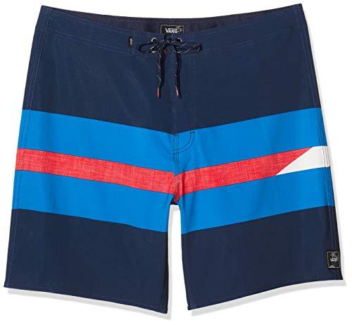 Vans Herren Ninety Three Boardshort Badehose, Mehrfarbig (Dress Blues LKZ), Medium (Herstellergröße: 32)