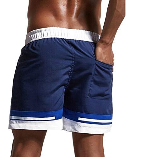 Kaister Badehose für Herren Casual Splice Stripe Beach Work Casual Männer Kurze Hosen Shorts Hosen