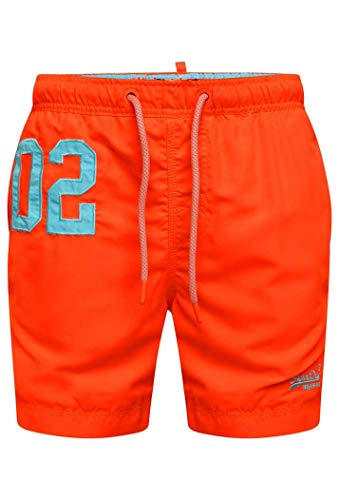 Superdry Herren Water Polo Swim Shorts, Arancione (Havana Orange Vqh), Small
