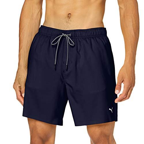 PUMA Herren Puma Mid-length Men's Swimming - Visible Drawcord Board Shorts, Navy, XXL EU