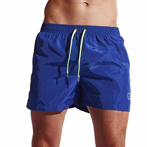 Malloom® Herren Shorts Badehose Quick Dry Beach Surfing Laufen Schwimmen Watershort Herren Herren Shorts Home Pants Sleek Strand Shorts Slim Pants Shorts (L, blau)