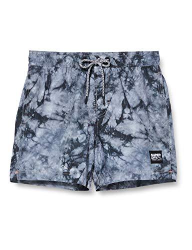 Superdry Herren Volley Swim Shorts, Grau (Grey Tie Dye SWQ), Large