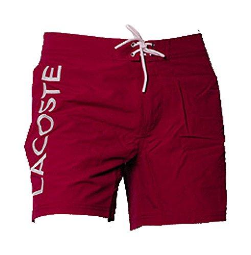 Lacoste Herren MH8629-00 Badeshorts, Rot (Bordeaux/White 338), 50 (Herstellergröße: L)