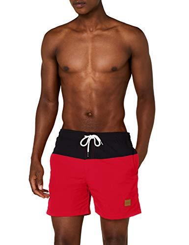 Urban Classics Herren Badehose Block Swim Shorts blk/red M