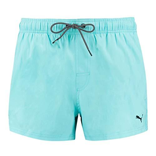 PUMA Herren Badehose Badeshorts Logo Short Length Swim Shorts, Farbe:Angel Blue, Bekleidungsgröße:M