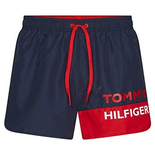 Tommy Hilfiger Herren Runner Badehose, Blau, Small (Herstellergröße:)