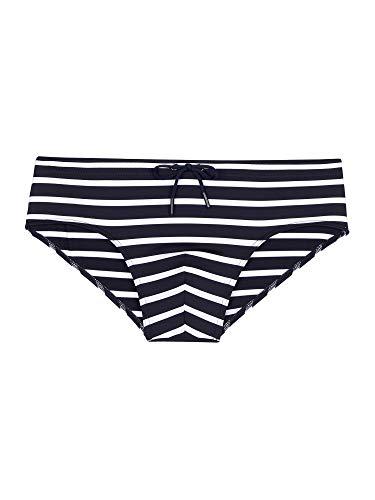 HOM Herren Swim Mini Briefs 'Matias' - Navy/White Stripes - S