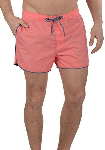 Blend Zion Herren Badehose Badeshorts Schwimmshorts mit Kordel, Größe:XL, Farbe:Coral Red (73824)
