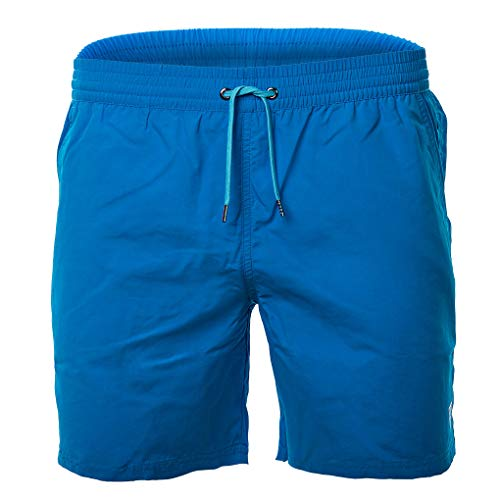 Guess Herren Badehose - Badeshort, Mesheinsatz, einfarbig (blau, XL (X-Large))