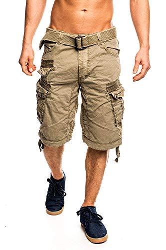 7I3 Geographical Norway People Herren Bermuda Shorts Kurze Hose Mastic XXL