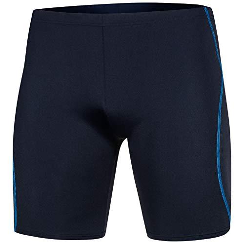 Aqua Speed Trainings Badehose Herren + gratis eBook | sportliche Schwimmhose eng | Swimwear Men | Wassersport Jammer blau | Balke, Gr. L, Navy Blue