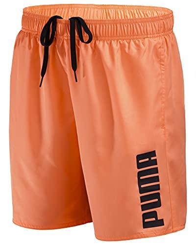 PUMA Herren Badehose Badeshorts Summer Deluxe Swim Shorts - New orange - Gr. L