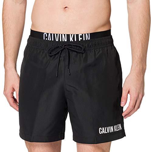 Calvin Klein Herren Medium Double Wb Badehose, Pvh Schwarz 2, M