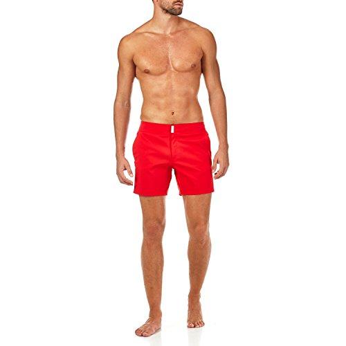 Vilebrequin Herren MERISE SOLID Swim Trunk Badehose, Mohn, XXX-Large