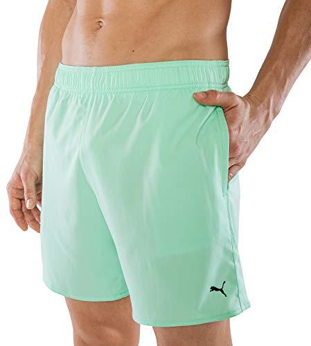 PUMA Herren Badehose Badeshorts Summer Deluxe Swim Shorts - Mint grün - Gr. L