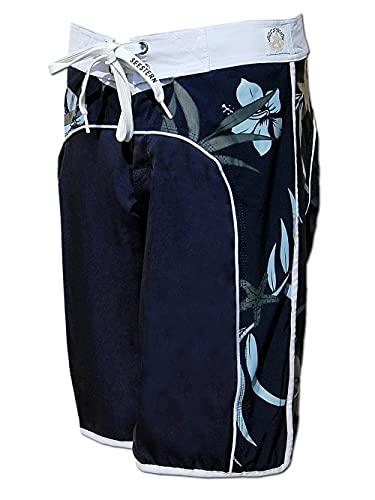 SEESTERN Damen Boardshorts Surfshorts Boardshort Surf Shorts Badeshorts XS-XXXL /2123 Blau XL
