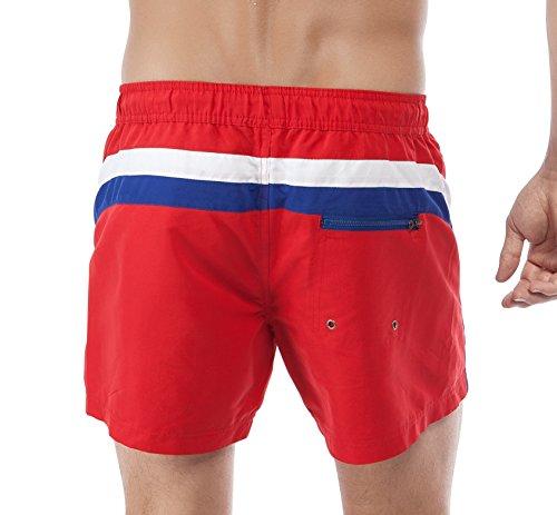Skiny Herren Badeshorts Basic Instinct Men Hr. Aqua Shorts, Einfarbig, Gr. Large, Rot (RED 1512)