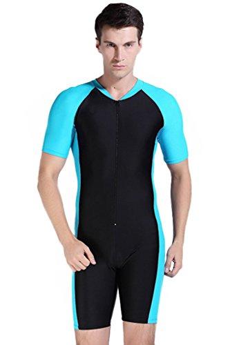 Herren Schwimmanzug Lang UV-Anzug UPF50 Schutzkleidung Sunsuit Ganzk?rperansicht Badeanzug XXL Blau-2
