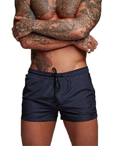 Badeshorts für Herren, Badehosen für Herren Herren Badehose Kurze Schwimmhose Boxer Badepants Wassersport Kurze Hose(Schnelltrocknend) (EU M/Tag L, Blau)
