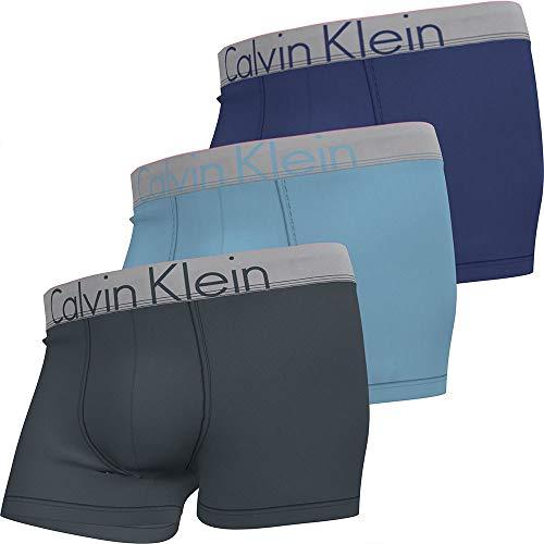 Calvin Klein Herren Trunk 3PK Badehose, Halbkugel/Hortensien/Violett, S