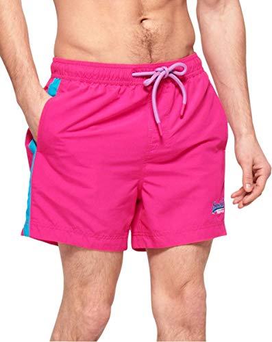 Superdry Beach Volley Schwimm-Shorts für Herren, Pink 50