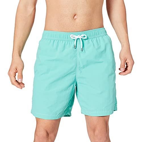 Hackett Mens CORE SOLID Volley Swim Trunks, 5SCPOOL Blue, XS