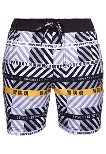 Superdry Herren 21' Boardshorts, White AOP, XX-Large