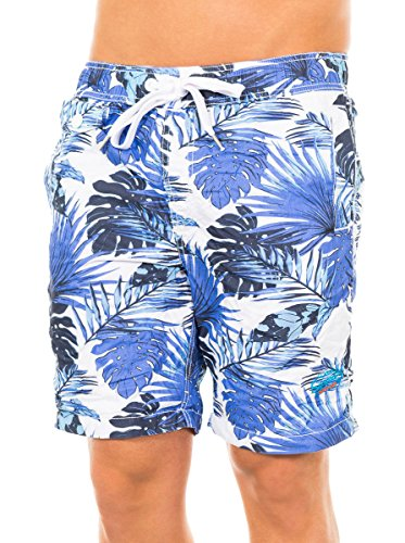 Superdry Badeshorts Honolulu Swim blau/weiß XL