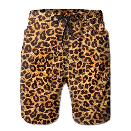 NDNG Jungen Boardshorts Animal Leopard Print Schnelltrocknende Badehose
