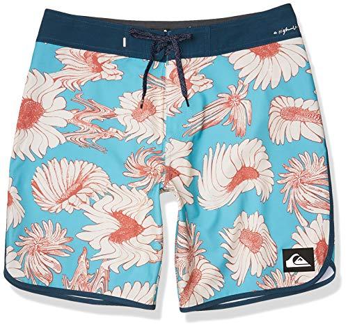 Quiksilver Highline Herren-Badehose, 48,1 cm, Außennaht, Stretch, Boardshorts, Pacific Blue Floral, 28