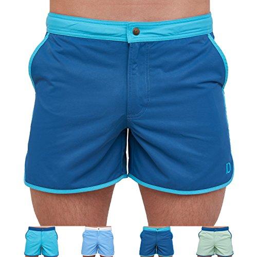 DEBOCHADO® Alvor Basic Coole Badehose Herren stylische Designer Badeshorts Männer Retro Taschen kurz schnelltrocknend