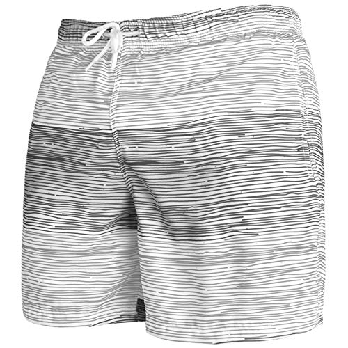 Occulto Badeshort Strips 2-Tone-Colours Grau/Anthrazit M