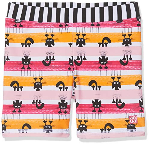Schiesser Mädchen Water Cat Bade-Shorts Badeshorts, Mehrfarbig (Multicolor 1 904), (Herstellergröße: 104)