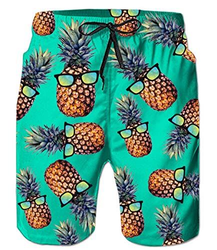RAISEVERN Strand Shorts, lustige gedruckte Herren Badehose Schwimmen Kurze trocknen schnell mit Taschen für Sommer Surfen Boardshorts Outdoor Wassersport grün