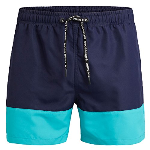 Bjorn Borg Herren 1p Swim Shorts BB Color Block Badehose, Peacoat, X-Large