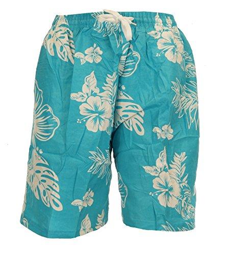 Piotrstrade Herren Badeshorts Badehose mit Blumenmuster Kordel und Innenslip Freizeithose kurz mit Tasche Badehose Strandshorts Sommer Hose Schwimmhose Beachshorts Bermuda Shorts